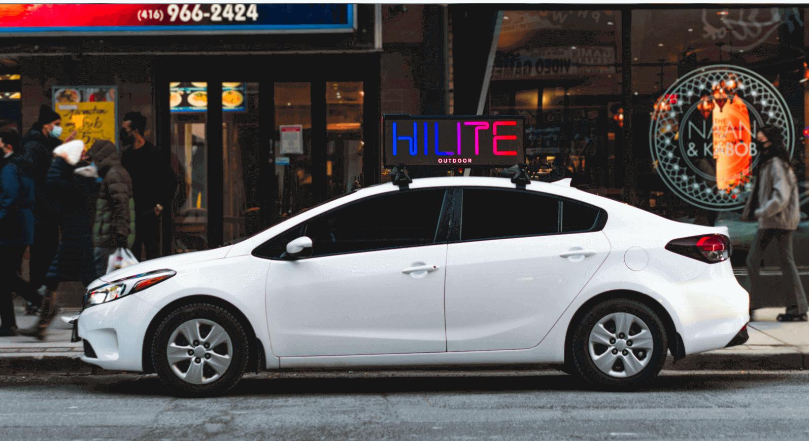 Hilite Outdoor Car Top DOOH Screen