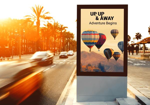 Free Roadside Vertical Billboard MockUp For Advertisement