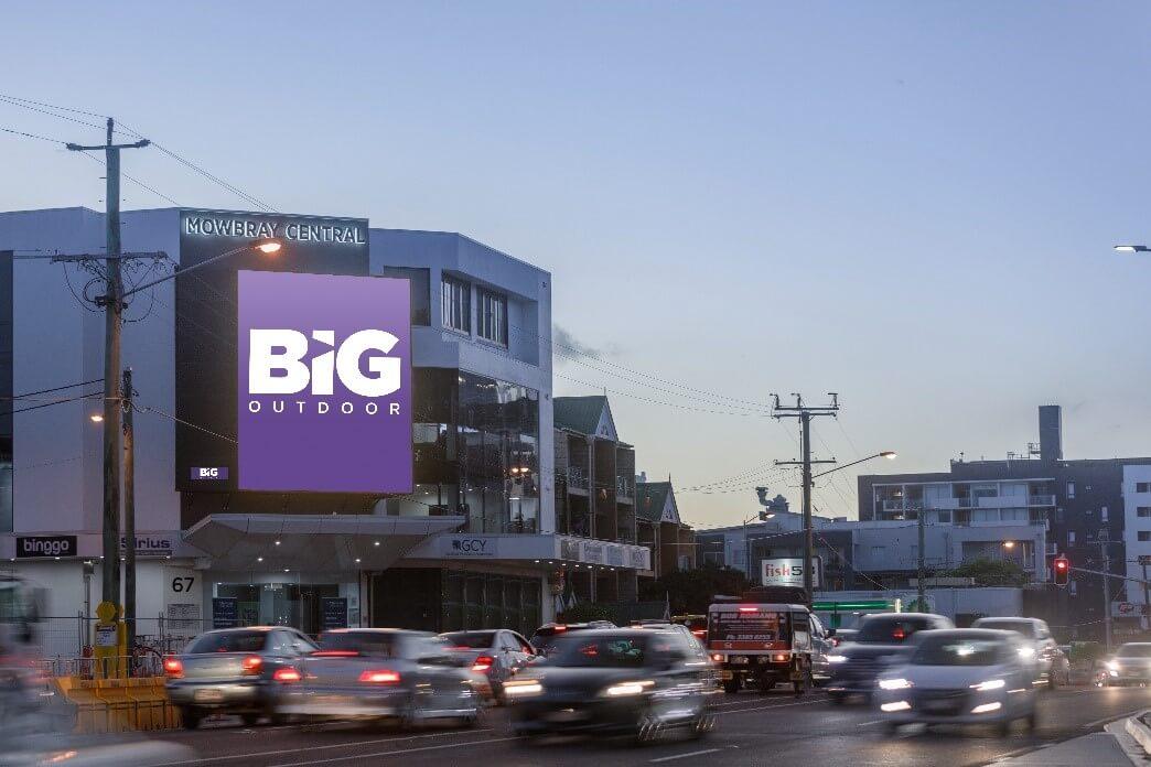 BIG Outdoor billboard displaying company logo