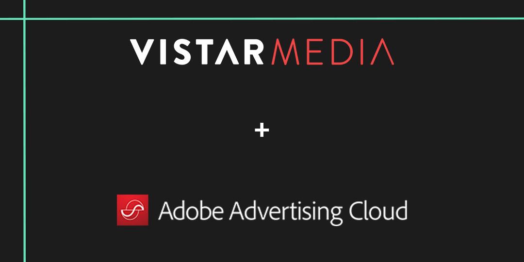 Adobe Advertising Cloud and Vistar logos