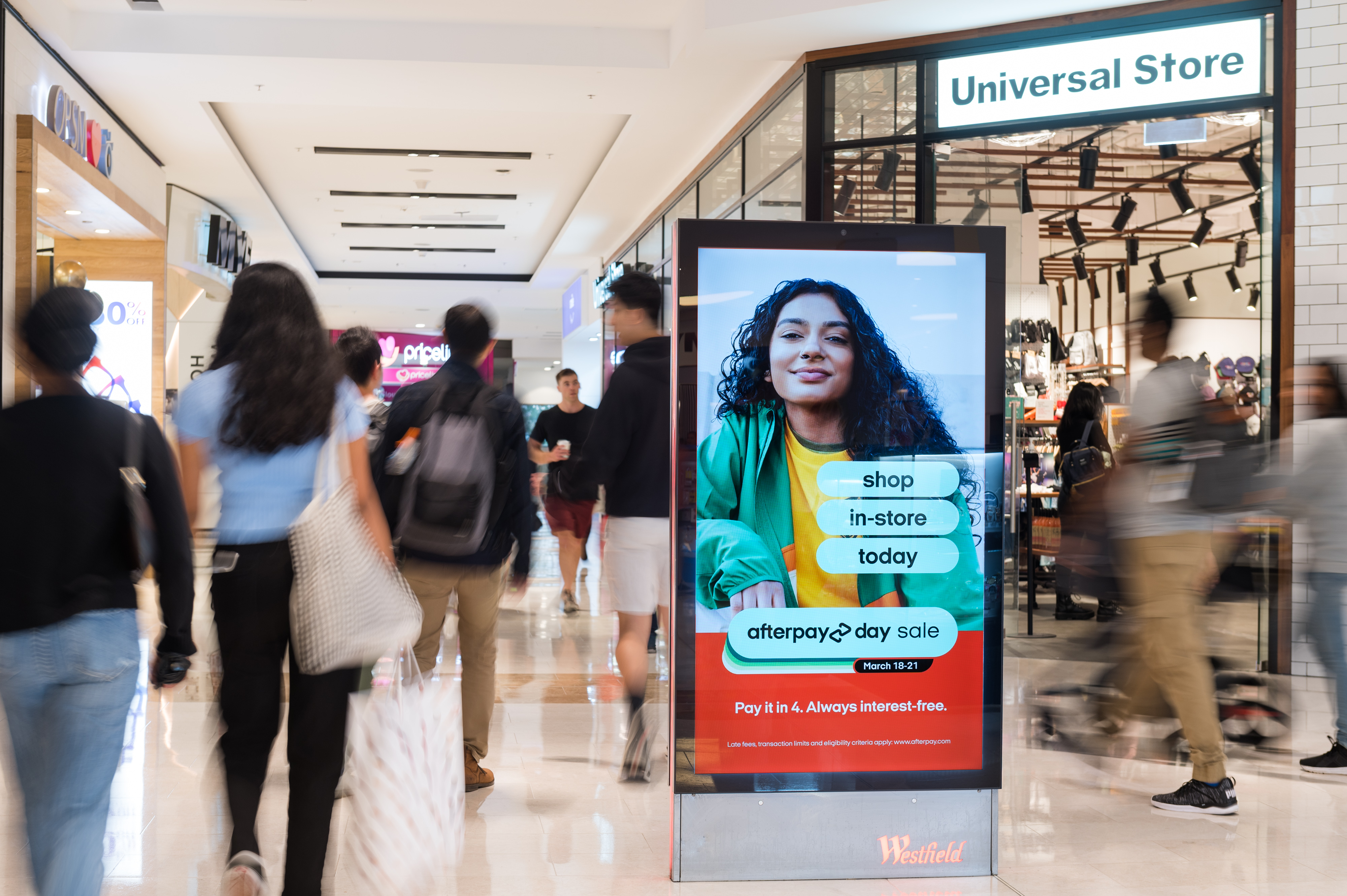 Programmatic DOOH screen from Scentre Group